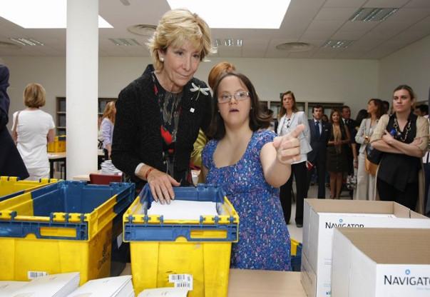 Mayo de 2012. Visita a la Fundación Prodis en Valdebernardo