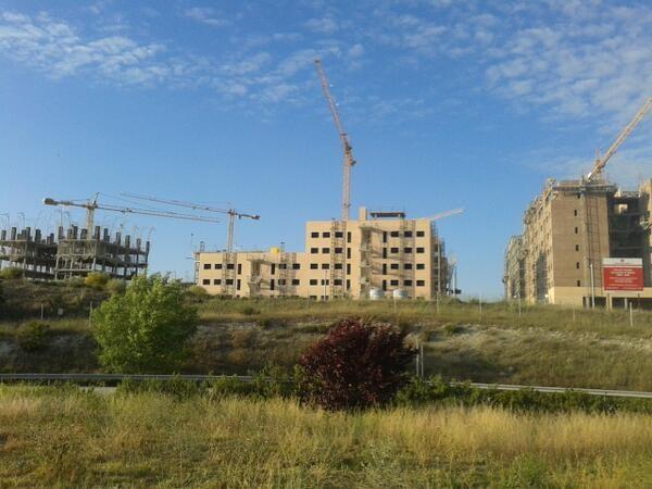 Estado actual de la obras en El Cañaveral (Imagen El Distrito)