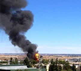 Septiembre 2012. Espectacular  incendio en el polígono industrial deVicálvaro.
