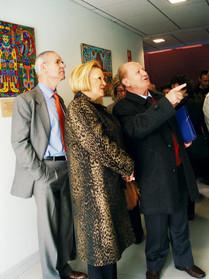 Carmen Torralba durante la visita