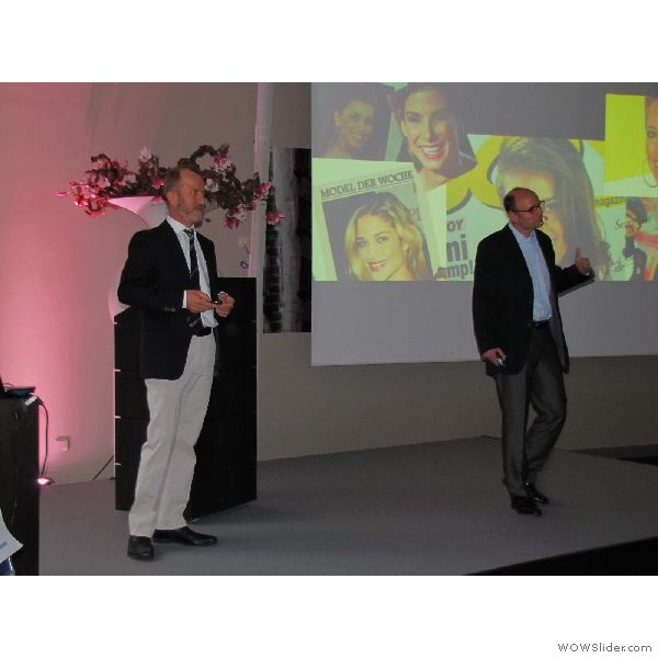 Dr. Mellinghoff und Joachim Maier im wechselnden Dialog