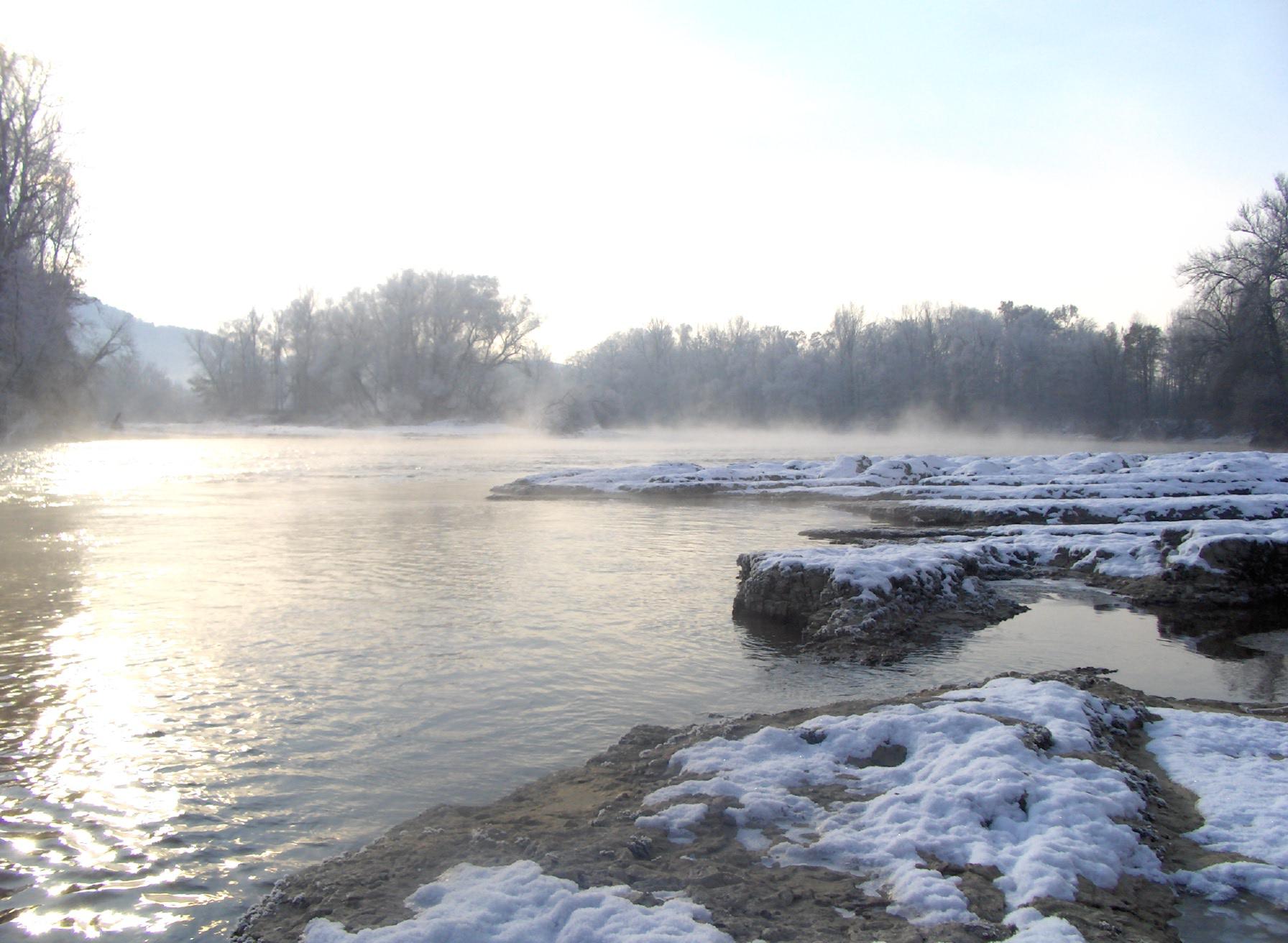 Winterlandschaft an der Aare (Quelle: Privatfoto)