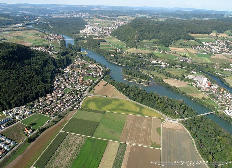 2014 - links Lauffohr, rechts Vogelsang, Untersiggenthal (Quelle: luftbilder-der-schweiz.ch)