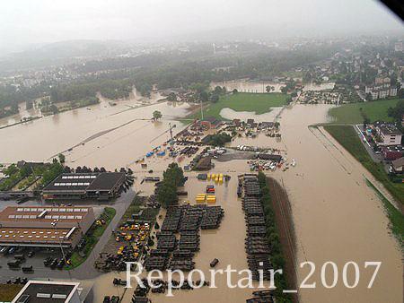 2007 - Hochwasser Zeughaus (Quelle: luftbilder-der-schweiz.ch)