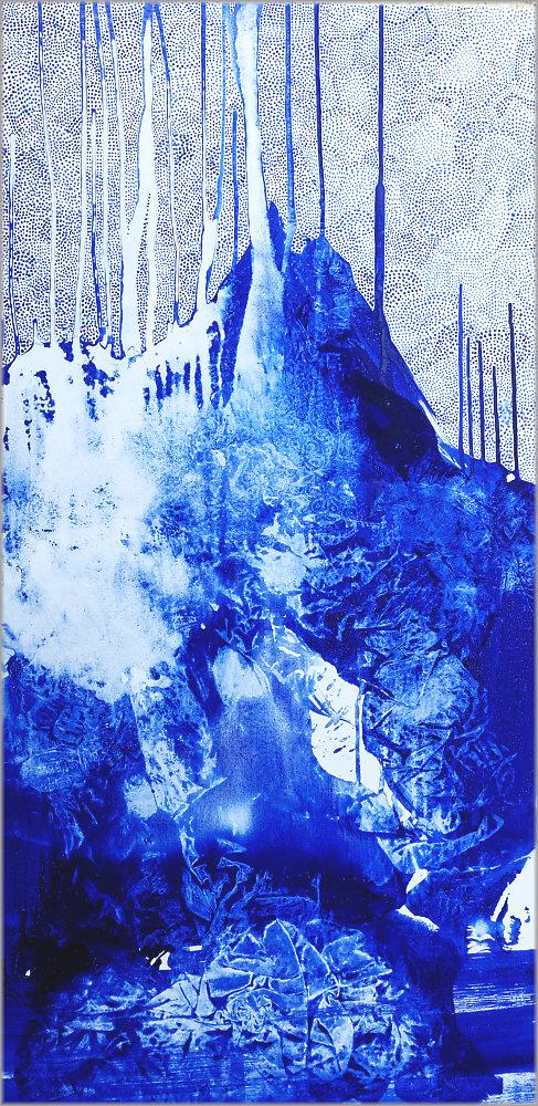 pigment et acrylique sur toile, 120 x 60 cm.