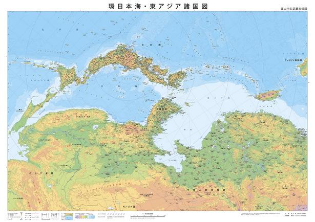 注記:この地図は富山県が作成した地図を転載したものである。