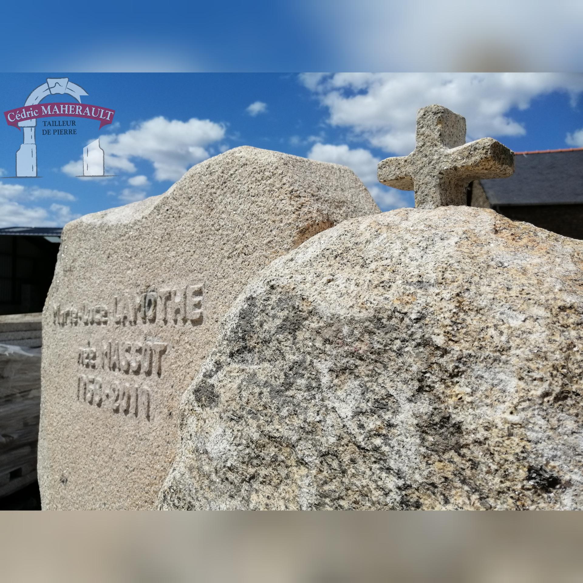 pierre tombale granit