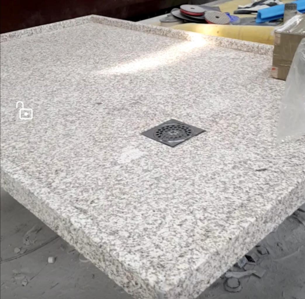 receveur douche italienne extra fin  granit beige dim: 140x90x