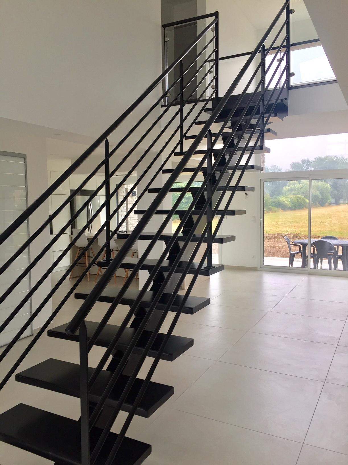 escalier acier art et fer
