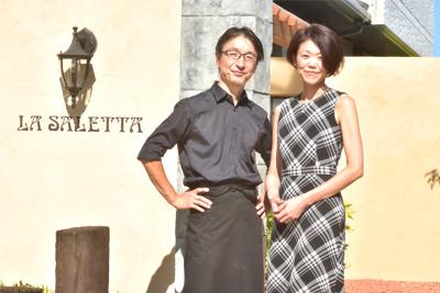 La Salettaのシェフとソムリエ