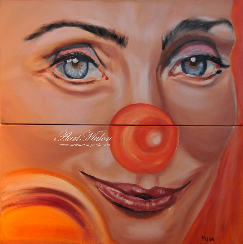 """""""Le clown""""         60/70           acrylique/toile"""