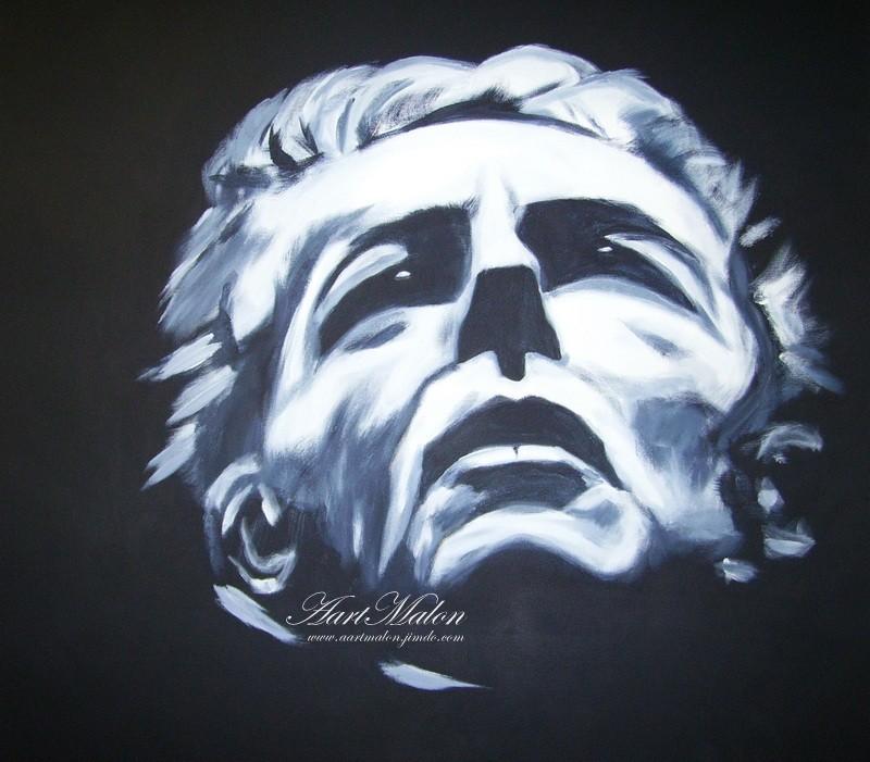 """""""Le chef d orchestre""""   80/80   acrylique/toile"""