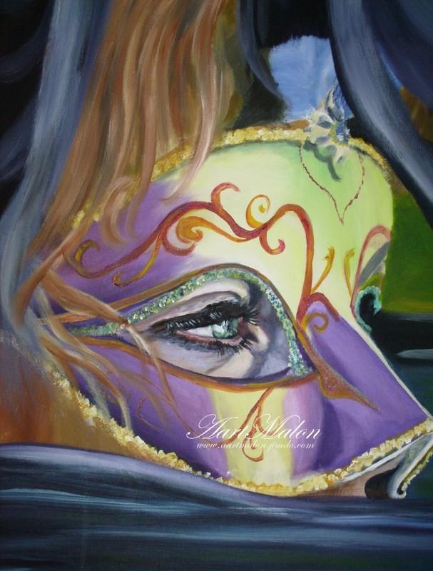 """Masque""     60/70     acrylique/toile"