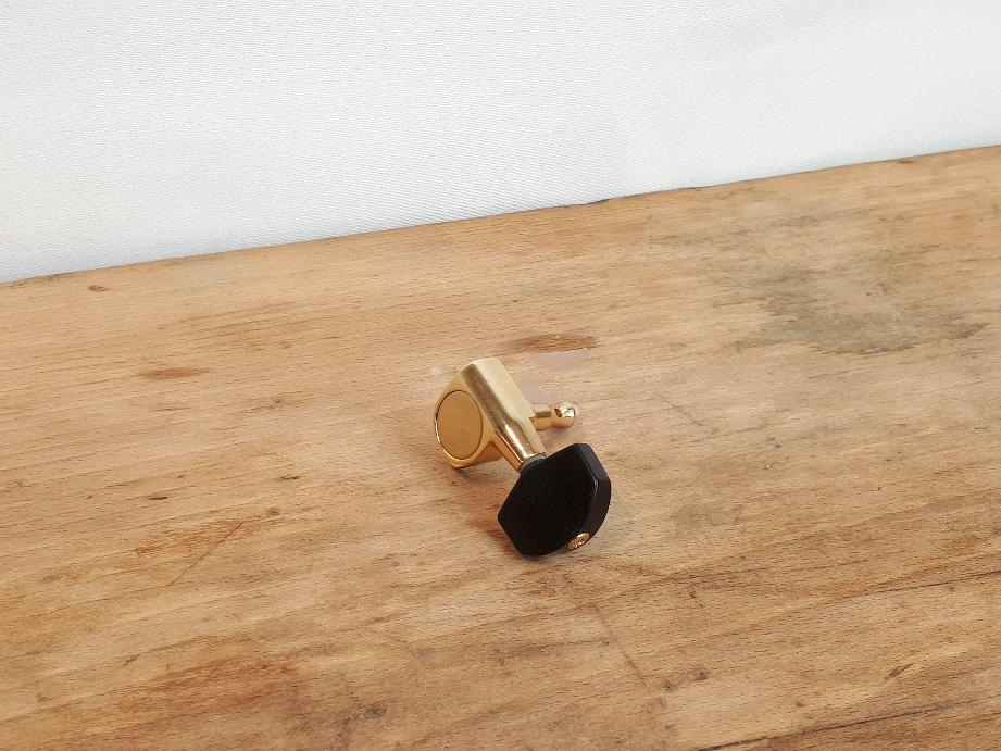 TYP 9 GOLD geschlossen mit schwarzem Knopf