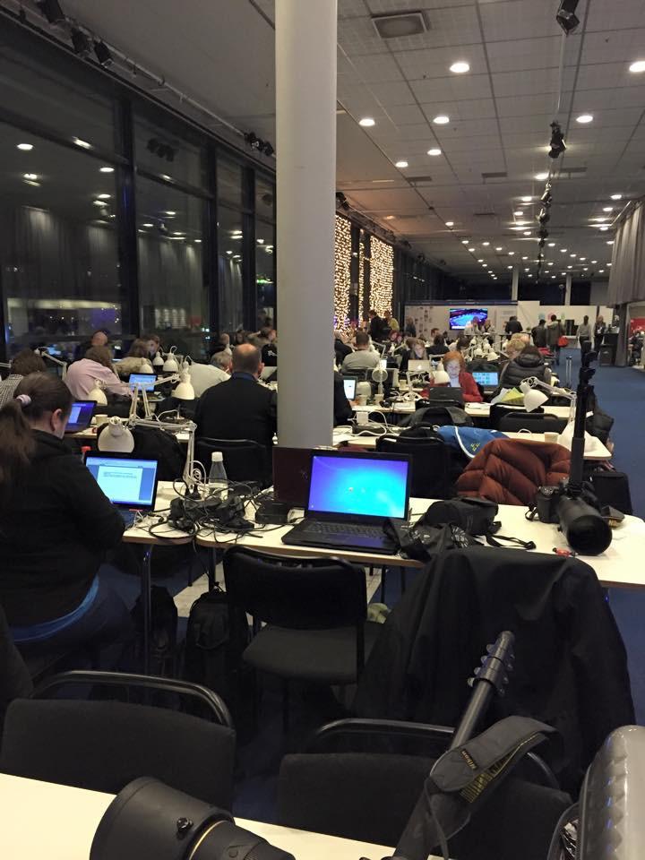 Salle de Presse - Championnats d'Europe 2015 - Stockholm