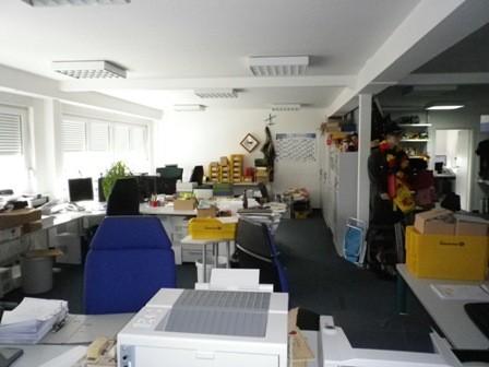 Alte Büroräume vor dem Umbau
