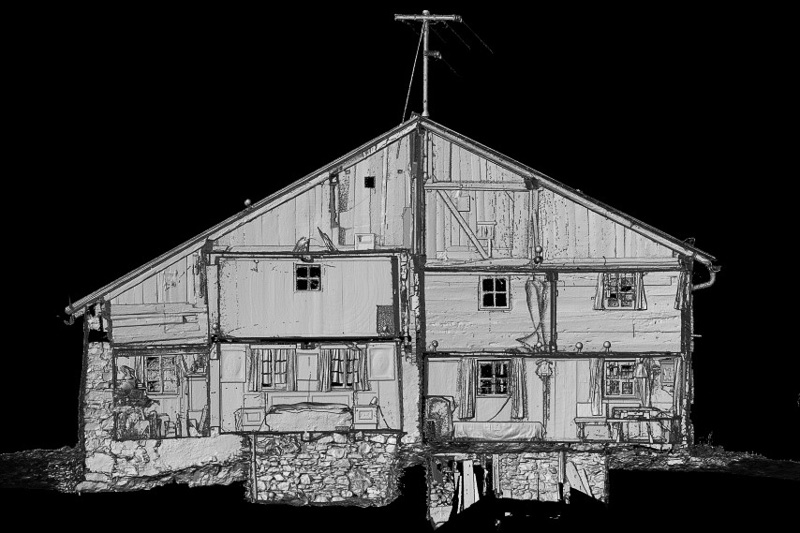 Laserscanning: Bauernhaus unter Denkmalschutz