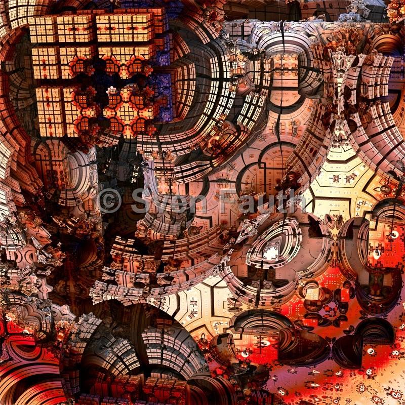 "Fraktal ""Mandeltech"" | Alu-Dibond | 40x40cm | 90,00 € | © Sven Fauth"