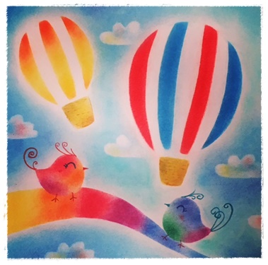 気球と小鳥さん(ココカラぱすてるさん)★★★