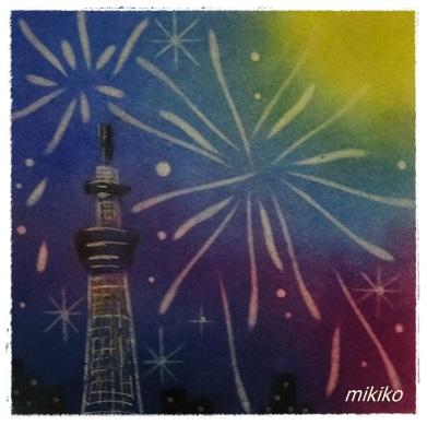 スカイツリーと花火 ★★★