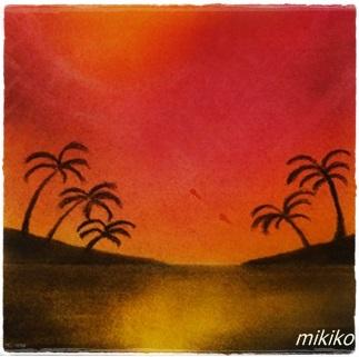 ハワイの夕焼け ★