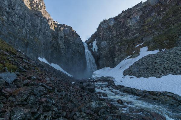 Der Njupeskär in Fulufjället - Schwedens höchster Wasserfall
