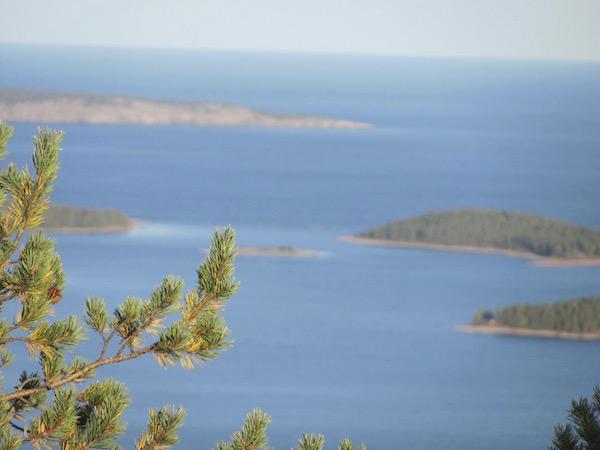 Blick vom Slattdalsberget, Skuleskogen Nationalpark in Schweden