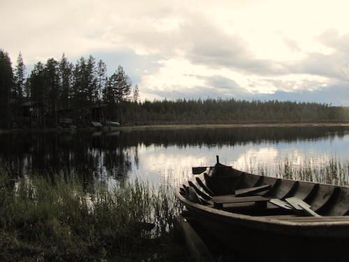 Holzboot am See, Dalarna
