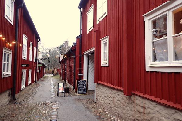 Straße im Freilichtmuseum Wadköping in Örebro