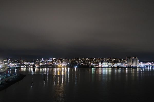 Rückblick bei der Ausfahrt aus Stockholm auf der Silja Serenade