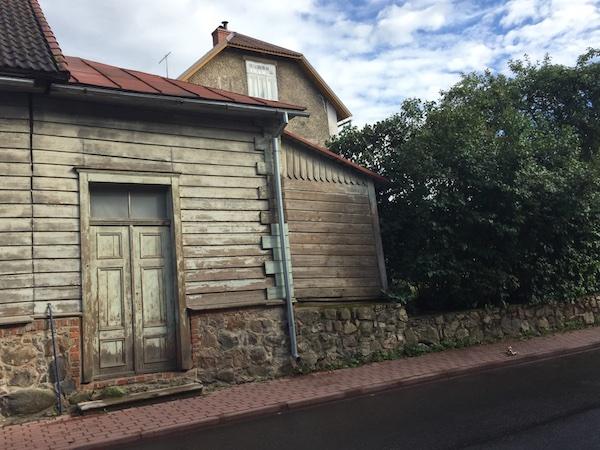 Altes Holzhaus in Viljandi, Estland