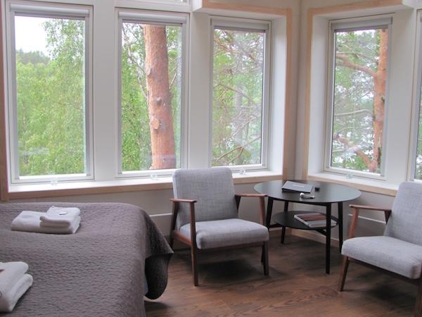Zimmer im Baumhotel Granö Beckasin