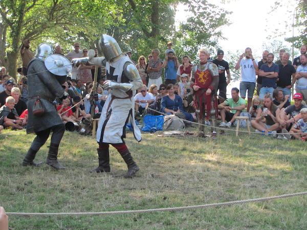 Ritterspiele in Visby auf der Mittelalterwoche