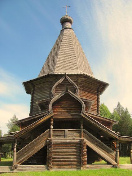 St. George's Kirche von 1672 im Malye Korely