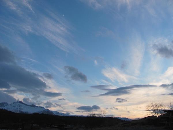 Himmel über Norwegen