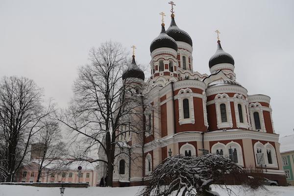 Alexander Newski Kathedrale in Tallinn im Winter