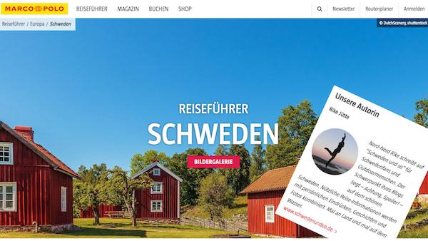 Screenshot Schwedenreiseführer | marcopolo.de