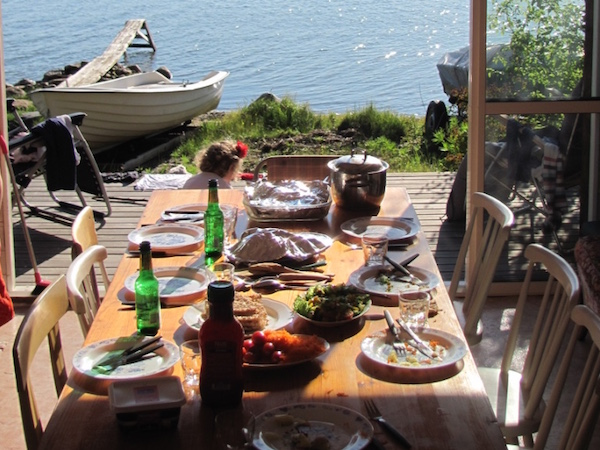 Mittsommer Tafel, Schweden, midsommar bord
