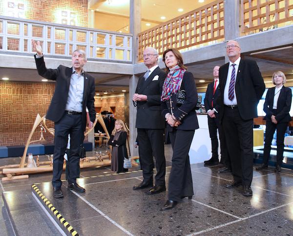 Lennart Lantto und das Königspaar in Kiruna im Rathaus | Foto: Gemeinde Kiruna