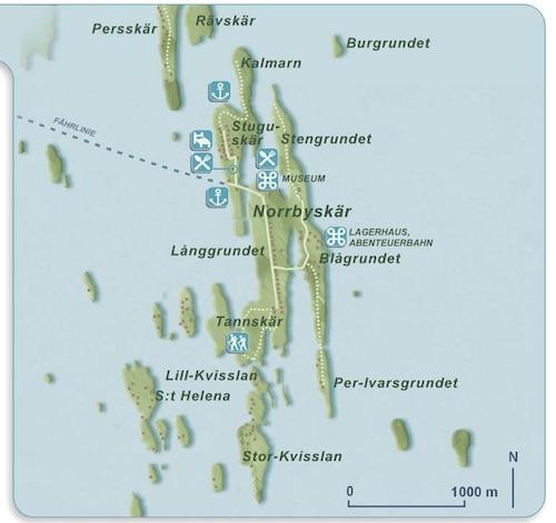 Karte der Norrbyskären | Quelle: kvarkenguide.org