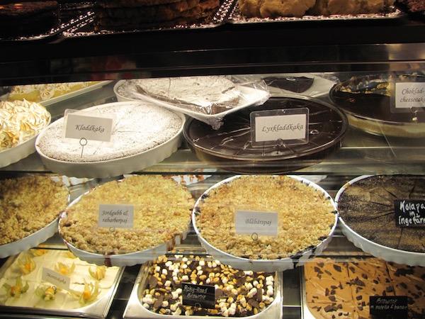 Auswahl schwedischer Kuchen und Torten