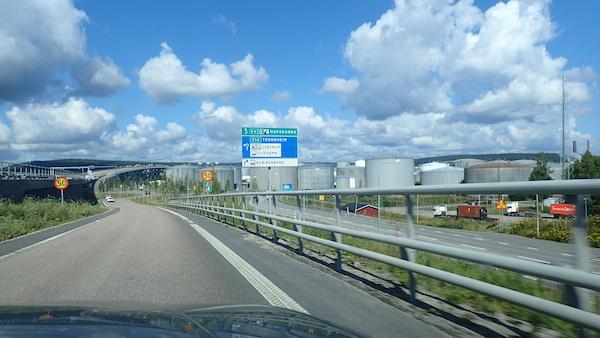 Abfahrt Sundsvall C statt Autobahnbrücke