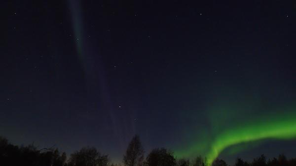 Polarlicht in Schweden: Blau und Grün!
