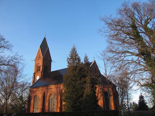 Bugenhagenkirche mit Solardach.