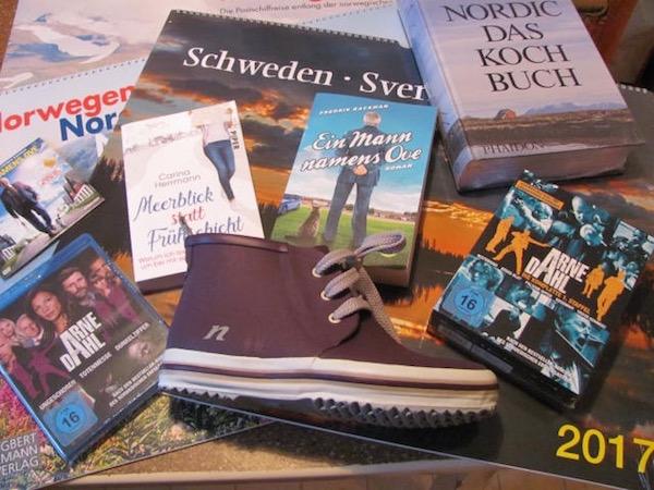 Die Preise des Schweden und so - Weihnachtsgewinnspiels (Bücher, Filme, Kalender, Schuhe...)