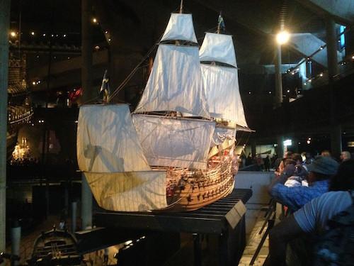 Modell der Vasa im Vasamuseet Stockholm