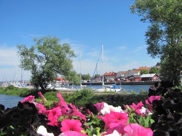 Gasthafen Mariestad am Vänernsee in Schweden