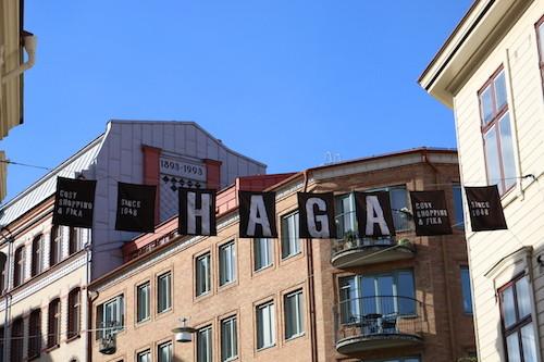 """Haga. Göteborg. """"Cosy Shopping & Fika, since 1648"""""""
