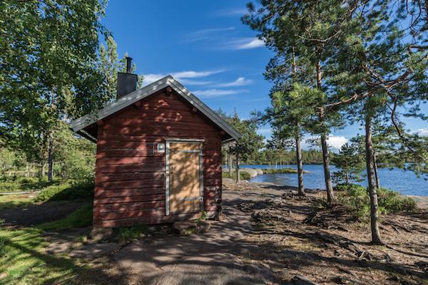 Hütte im Skuleskogen Nationalpark