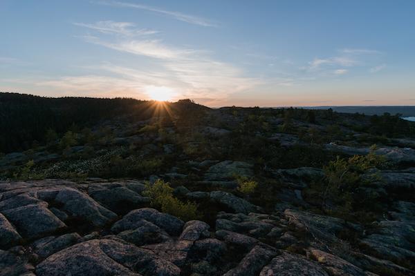 In Schweden im Skuleskogen Nationalpark, Hohe Küste, High Coast, Höga kusten